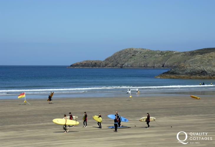 Whitesands - a Blue Flag beach popular with families and water sport enthusiasts