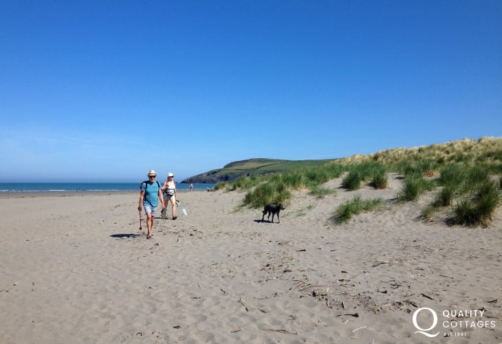 Newport Sands - a dog friendly golden sandy beach