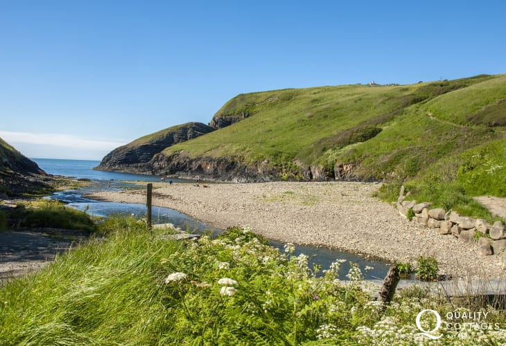 Ceibwr Cove is just a short walk from the cottage