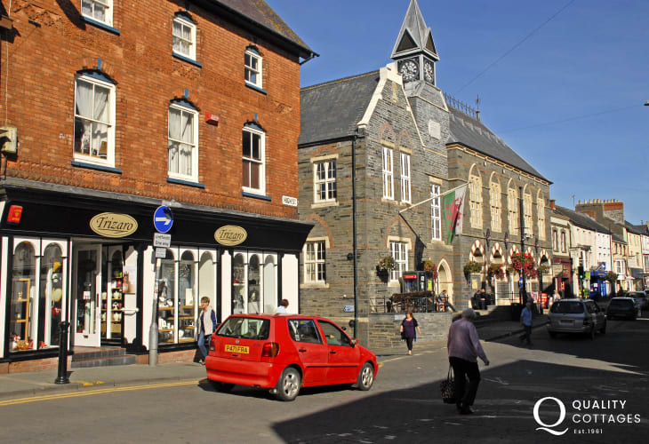 Cardigan is a vibrant county town with Georgian buildings and a great indoor market