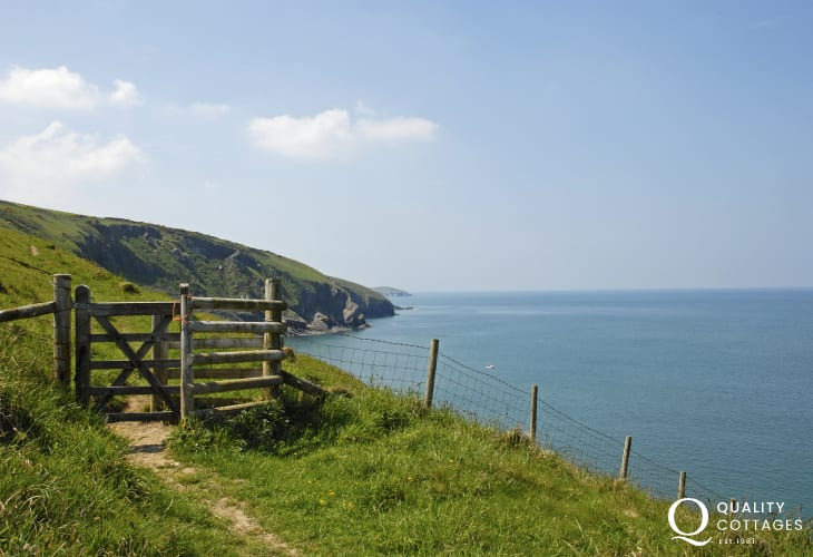 The Cardigan Heritage Coast Path heads north from Gwbert
