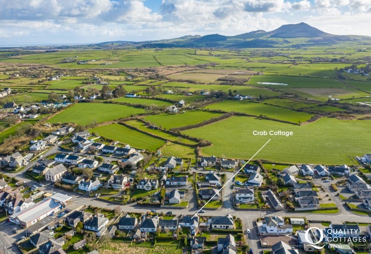 Aerial View of Crab Cottage, Llyn Peninsula.