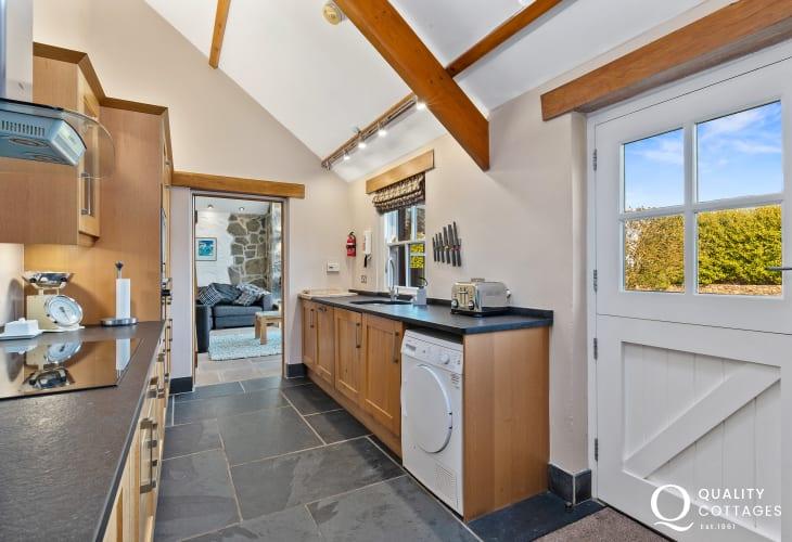Kitchen with stable door to garden