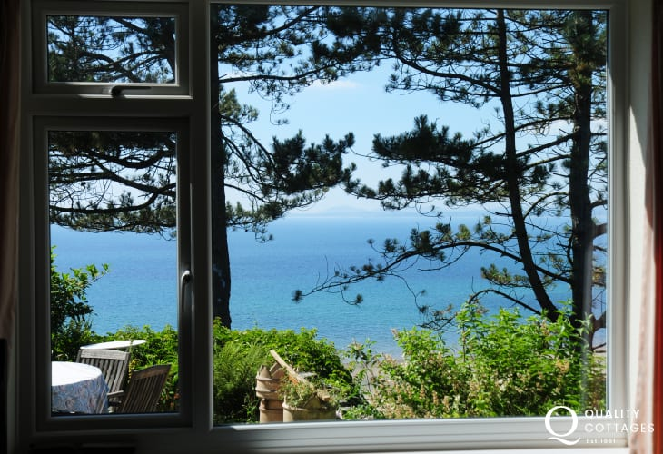 Sea views from holiday cottage at Hafon Wen
