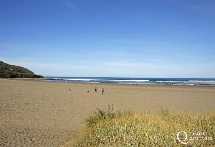 Poppit sands - an ever popular stretch of sands backed by sand dunes (SSSI)