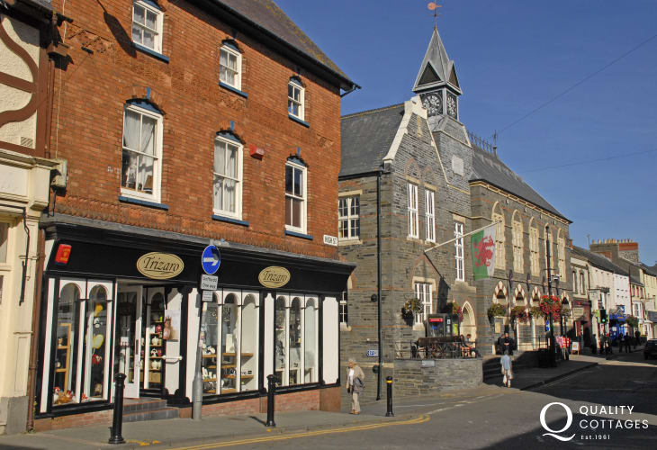 Cardigan has an excellent market, theatre, leisure center and a variety of places to eat