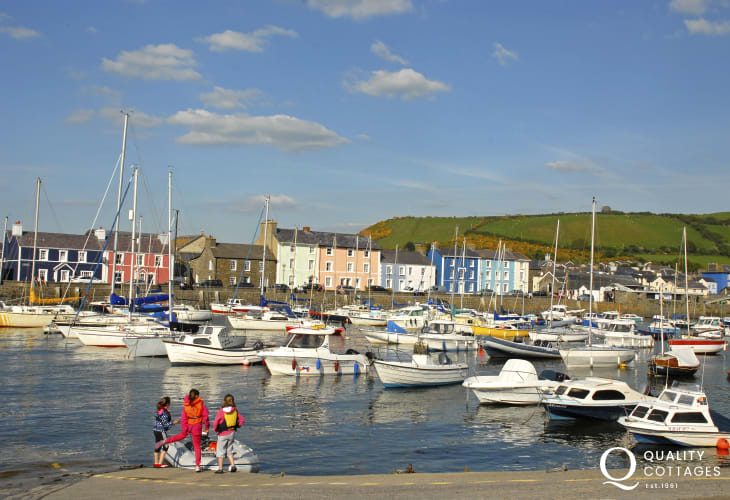 Aberaeron - a popular harbour town with a variety of places to eat and drink
