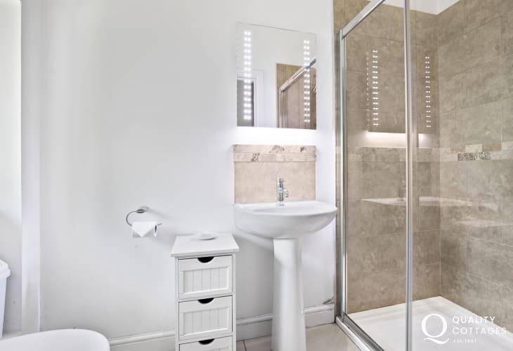 Teifi Valley barn cottage double bedroom ensuite shower room
