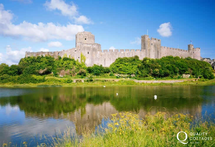 Medieval Pembroke Castle - falconry displays, music festivals and historical events take place throughout the year