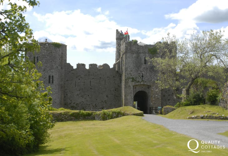 Manorbier Castle - lovely grounds for a picnic or tea in the tiny cafe set within the walls