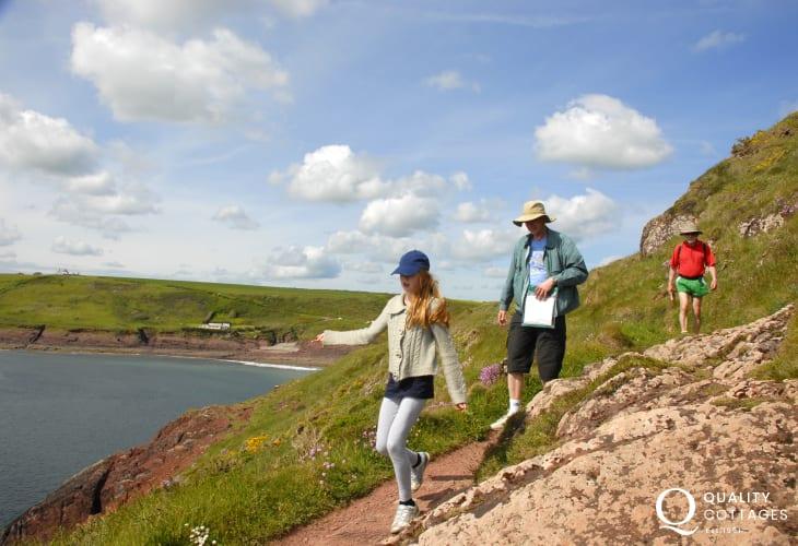 Enjoy fabulous cliff top walking on the Pembrokeshire Coast Path