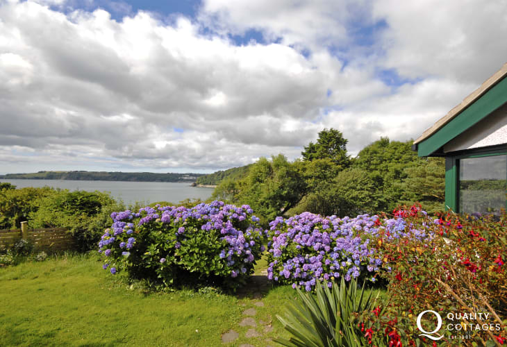 Enjoy stunning sea views from the garden over the bay