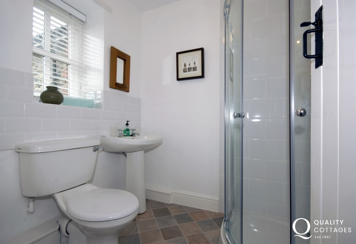 St Davids holiday cottage - shower room