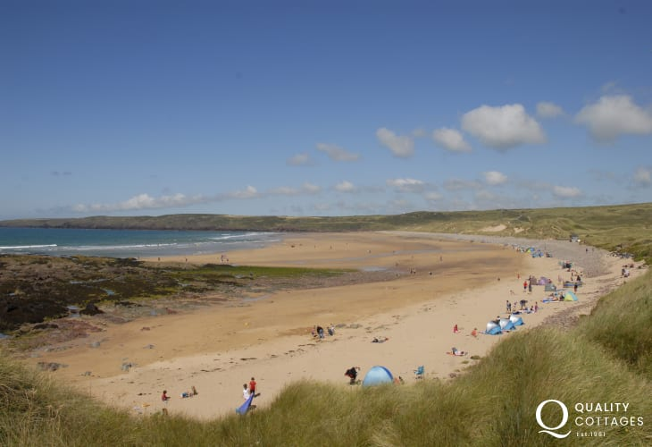 Freshwater West Beach - great for surfing and one of many sandy beaches along the coast