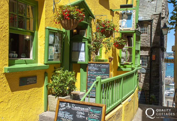 The Plantaganet Restaurant - an intimate period building with a medieval Flemish chimney is tucked away down Quay Hill