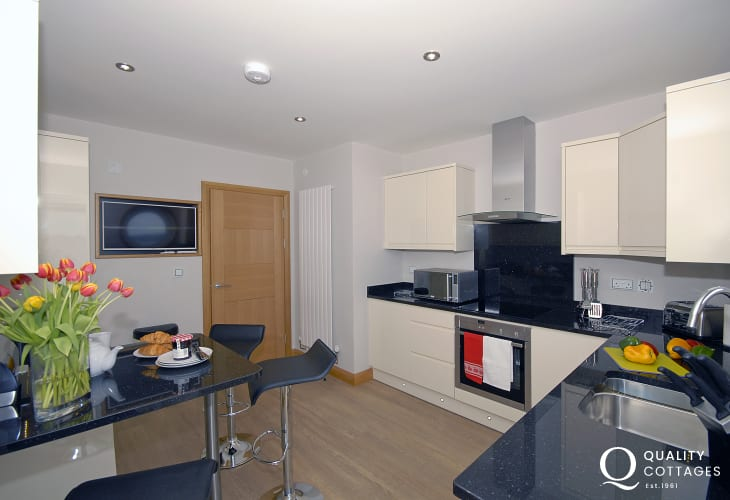 Self-catering apartment South Pembrokeshire - modern luxury kitchen