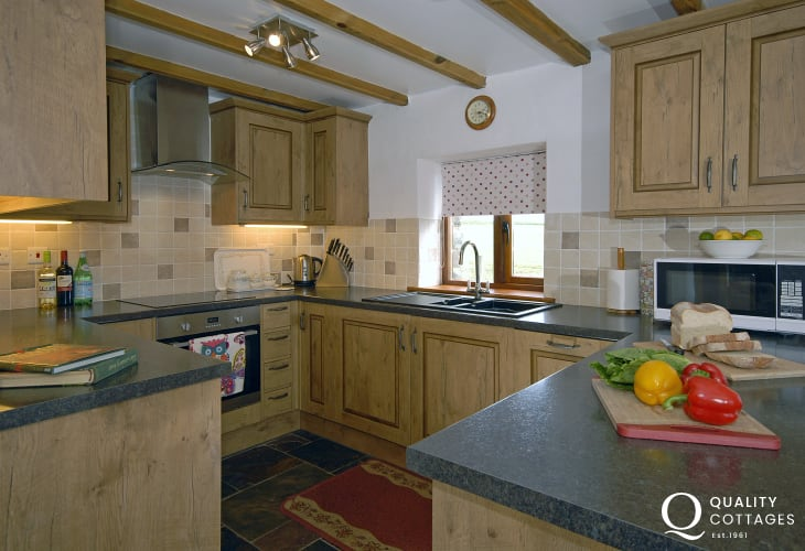Self catering Pembrokeshire cottage near Porthgain - well equipped kitchen