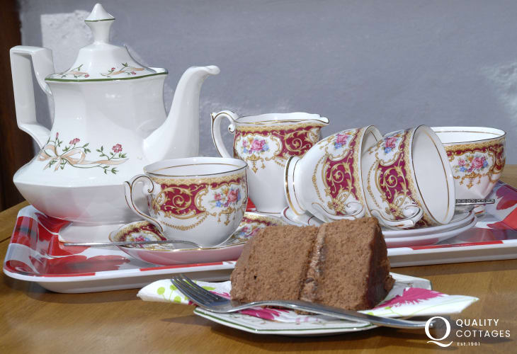 Cwtch up with tea and cake at Beacon Cottage, Pembrokeshire