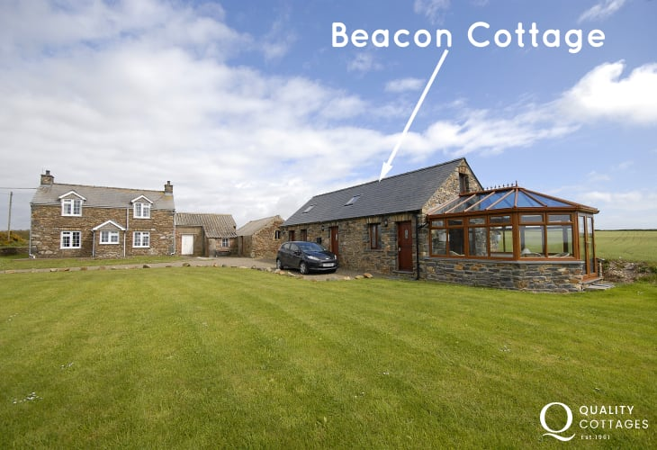 North Pembrokeshire converted barn with gardens and sea views