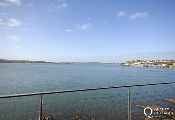 Panoramic views across the Haven Waterway from almost every room in this luxury waterside apartment