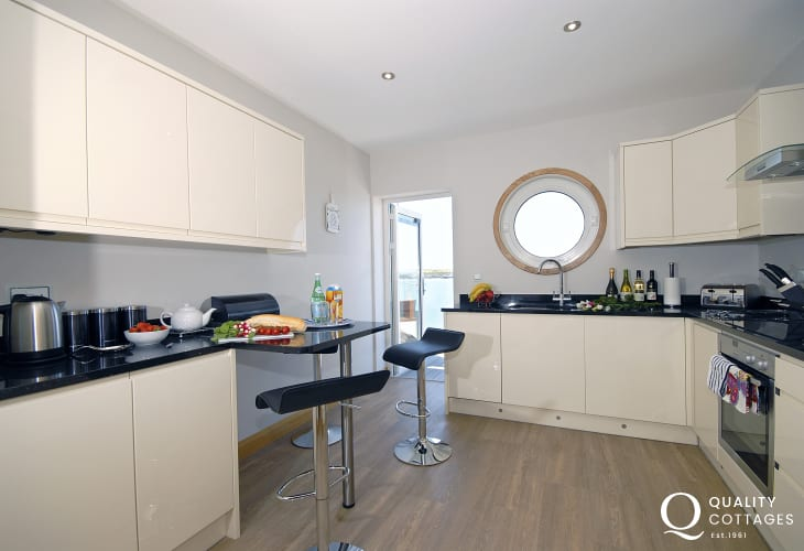 Self-catering second floor apartment South Pembrokeshire - modern luxury kitchen