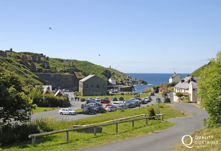Fabulous views over Porthgain, a picturesque fishing village