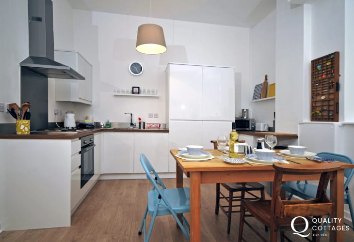 Luxury north Wales apartment - kitchen