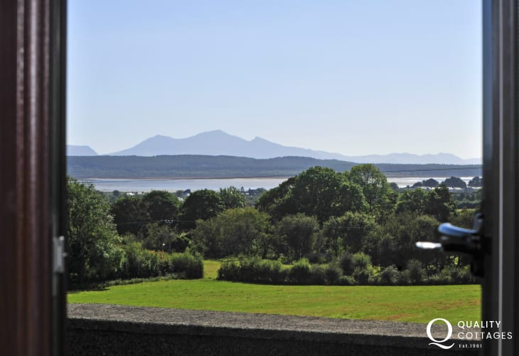 Views of Snowdonia, Newborough & Malltraeth from the bedroom