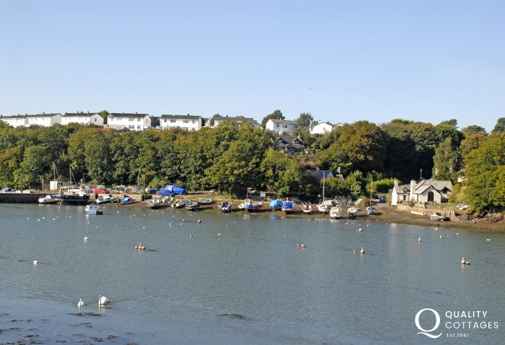 Enjoy the lovely ever changing views over the waters at Castle Pill