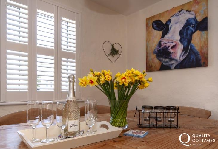 Bosherston cottage with striking artworks