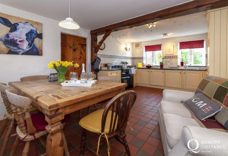 Self catering Bosherston  - open plan kitchen/diner