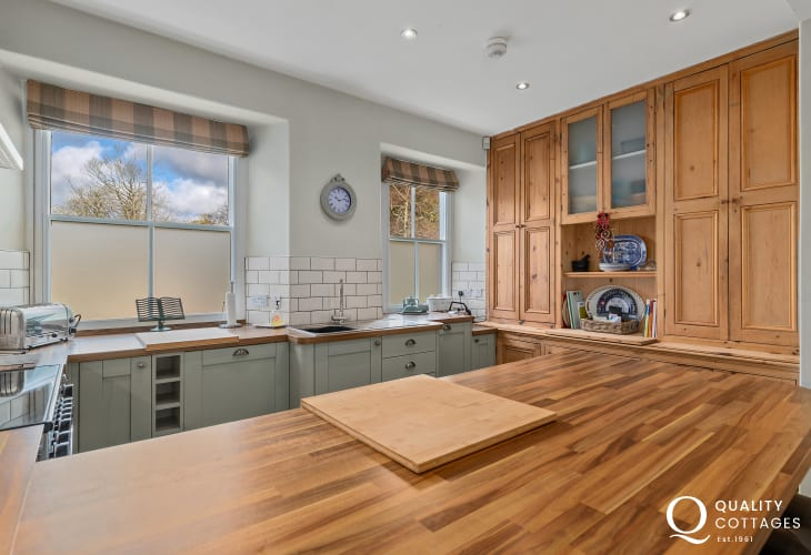 Handmade shaker kitchen with wooden worktops