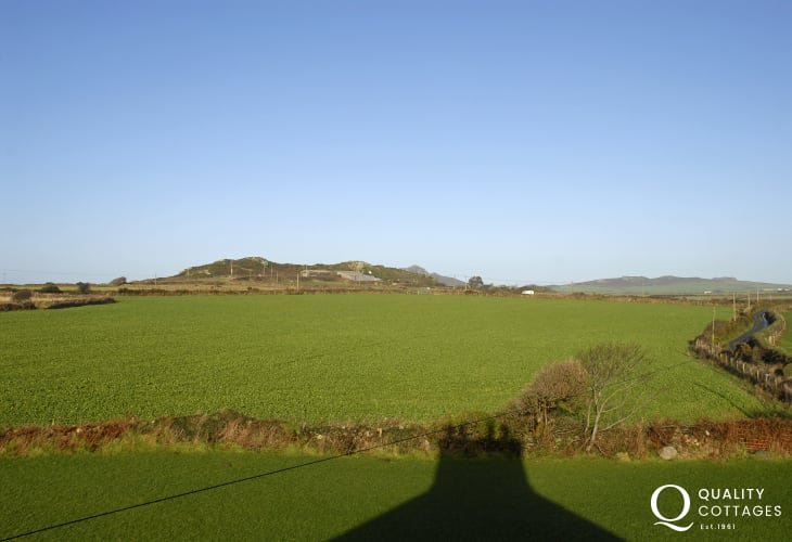 Views from the house to Carn Llidi and Penberry in the distance