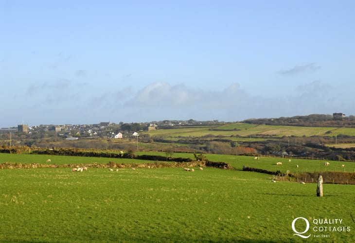 Fabulous views from the first floor over surrounding countryside to St Davids beyond
