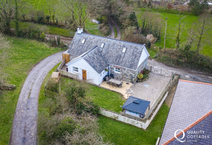 Aerial View of Farrier's Cottage