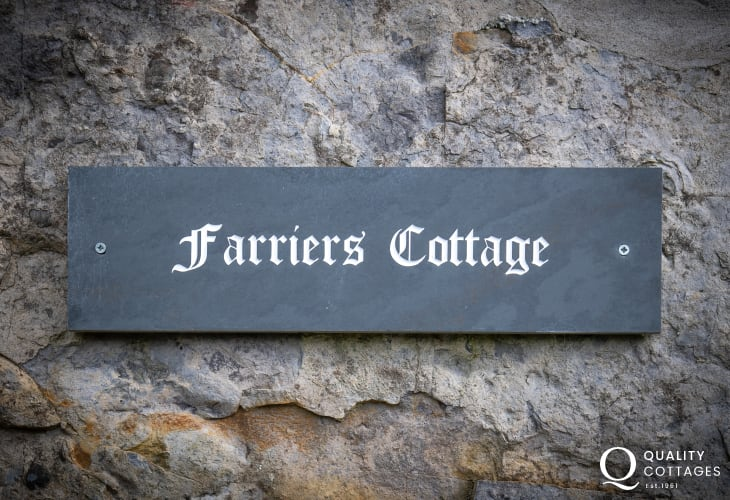 Farrier's Cottage slate sign