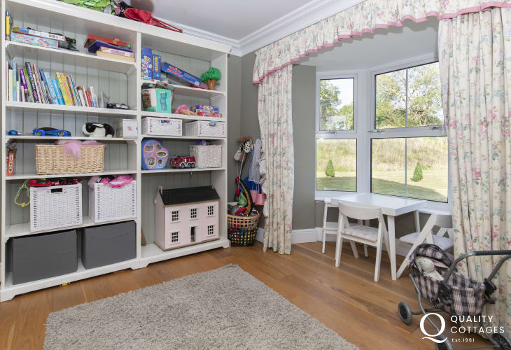 Pembrokeshire family holiday home children's play-room