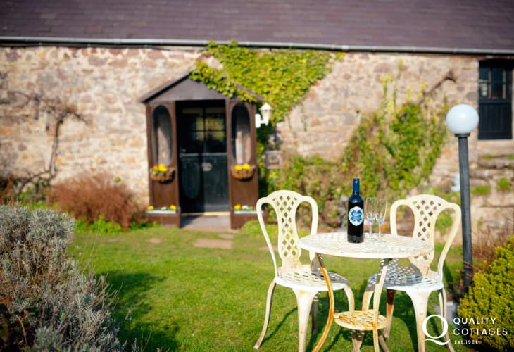Cottage holiday for two on Gower Peninsula - garden