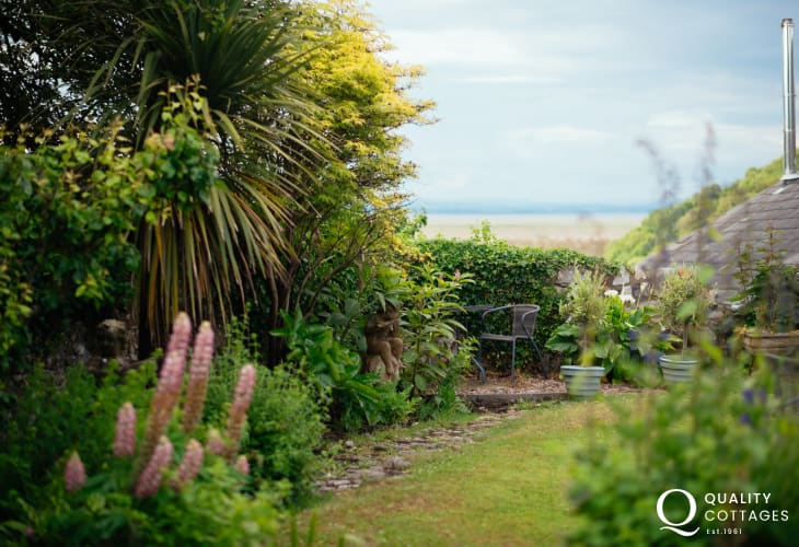 Sea views from Gower holiday cottage