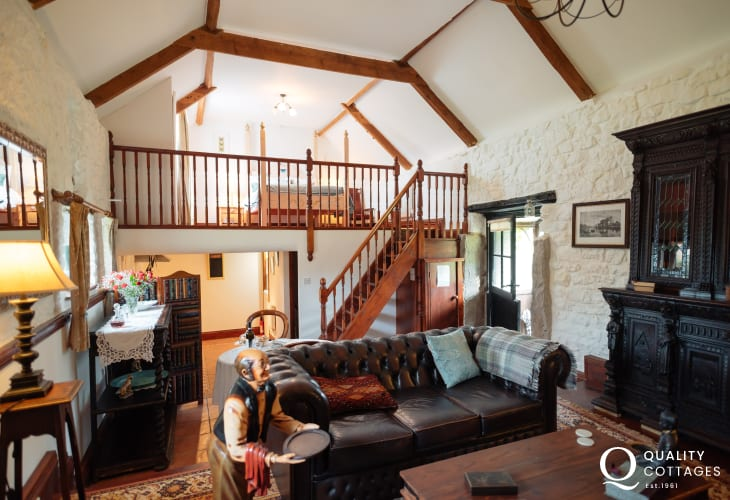 Whiteford Point cottage holiday for two - open-plan lounge