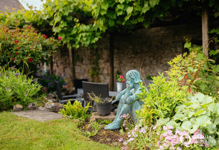 Swallows Nest has its own private garden