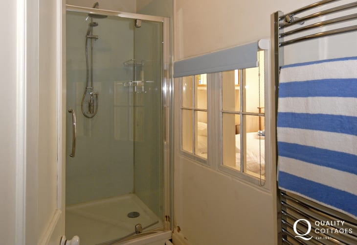 Georgian holiday home Tenby - lower ground floor modern shower room
