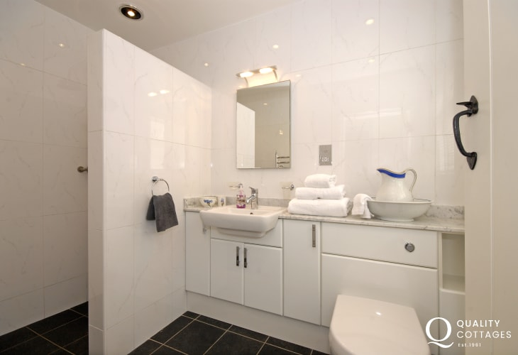 Pembrokeshire holiday cottage - luxury shower room