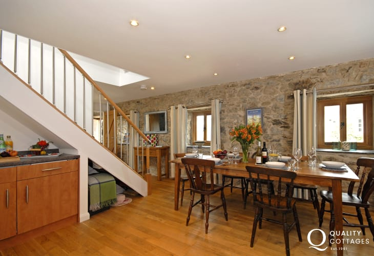 Self-catering holiday home St Davids City - open plan kitchen/diner