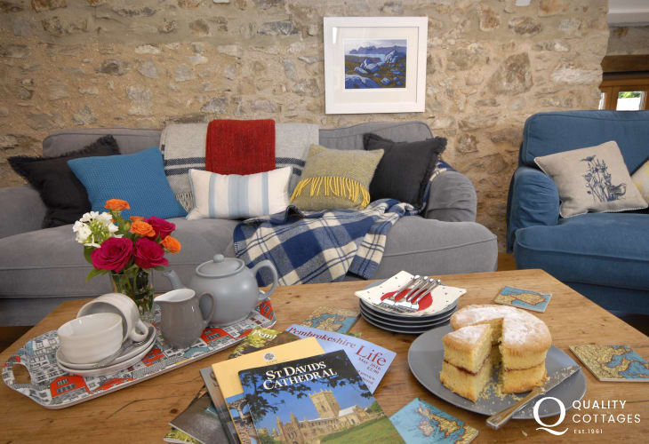 St Davids Pembrokeshire family holiday home with top floor living area