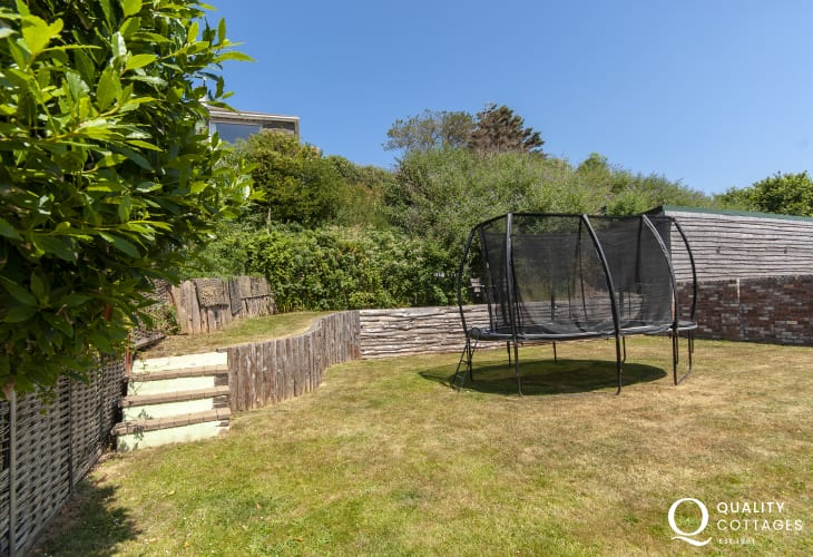 Solva family holiday home with enclosed gardens and trampoline