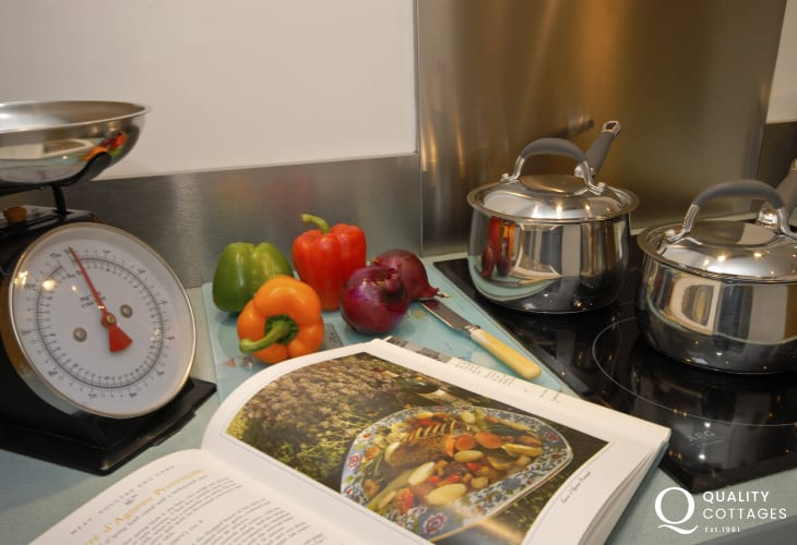 Cookery books at Llys Meinor, Solva