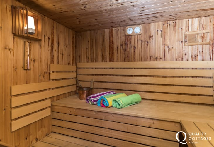 Sauna in Pembrokeshire holiday house, St David's