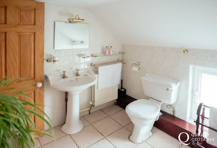 Gower holiday cottage-bathroom