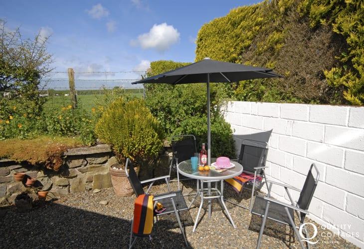 Sheltered cottage garden